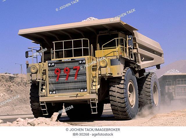 CHL, Chile, Atacama Desert: the Chuquicamata copper mine near Calama