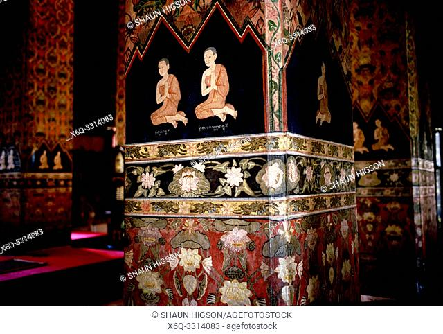 Wat Pathum Wanaram in Bangkok in Thailand in Southeast Asia Far East