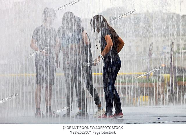 Appearing Rooms, Interactive Water Fountains, The South Bank, London, England