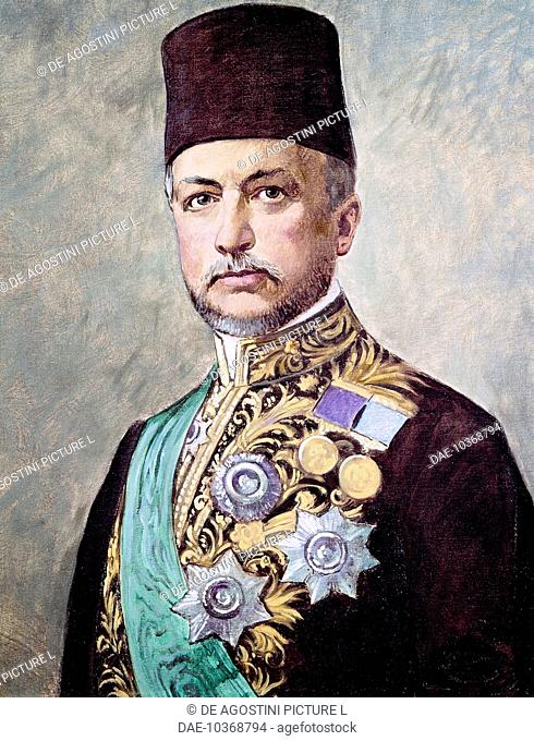 Portrait of Said Halim Pasha (1865-1921), Ottoman Empire Grand Vizier from 1913 to 1916. Turkey, 20th century.  Rovereto