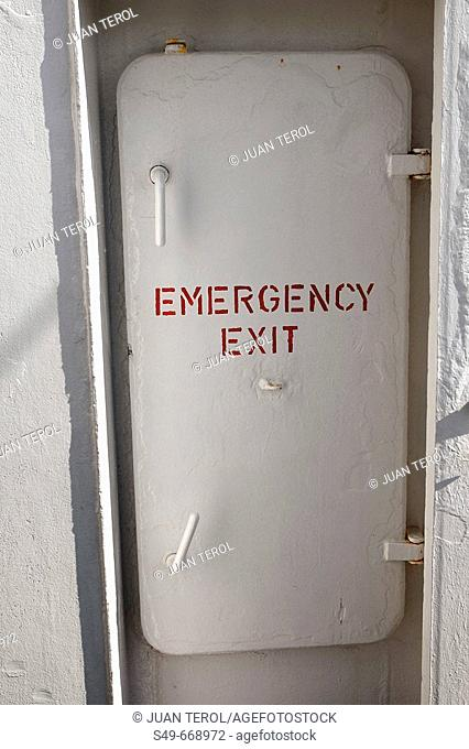 Emergency exit, fishing boat