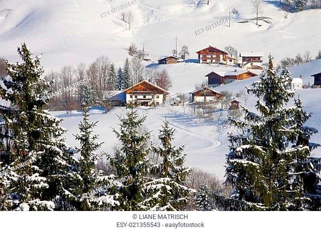 Alpen im Winter - Alps mountains in winter 02