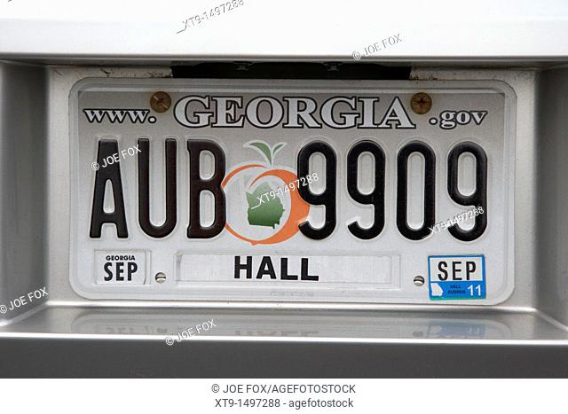 georgia hall county vehicle license plate state usa