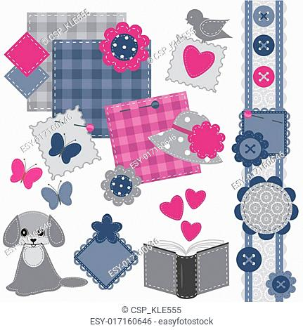 scrapbook set with different object