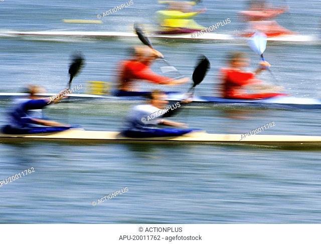 Double kayak race