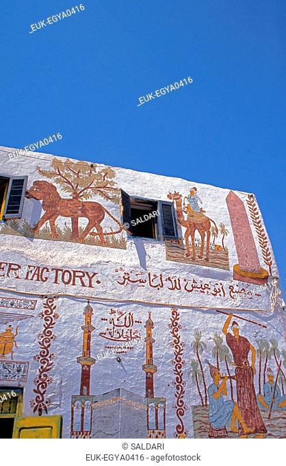 Frontage of a house,Egypt