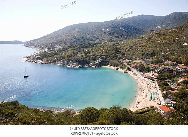 Europe, Italy, Tuscany, Elba Island, Cavoli beach, landscape