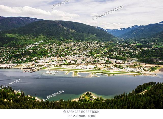 View of the town of Nelson from Pulpit rock; Nelson, British Columbia, Canada
