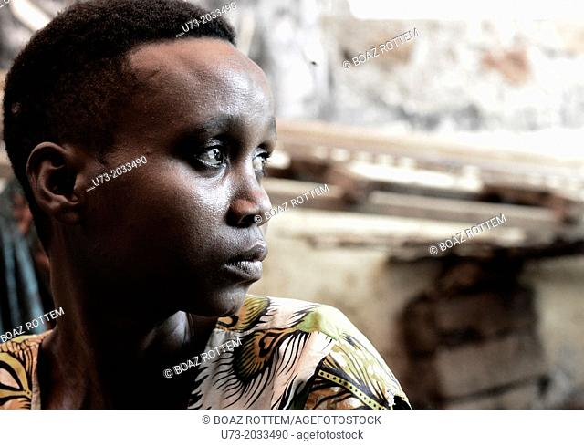 An HIV positive woman visiting a homeopathic clinic in Northern Tanzania