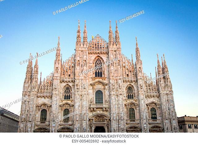 The famous landmark of Milano city, Italy