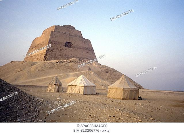Pyramid and Bedouin Tents at Meidum