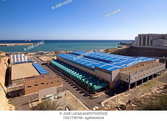 Desalination plant, Carboneras, Almeria-province, Spain