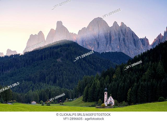 Funes valley, Bolzano province, Trentino alto Adige district, Europe, Italy