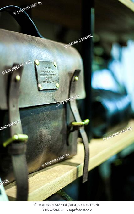 Vintage suitcase made of leather