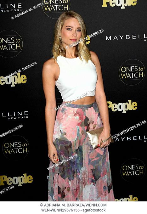People's One's To Watch Event Celebrating Hollywood's Rising & Brightest Starts held at E.P. & L.P. in Los Angeles Featuring: Kim Matula Where: Los Angeles