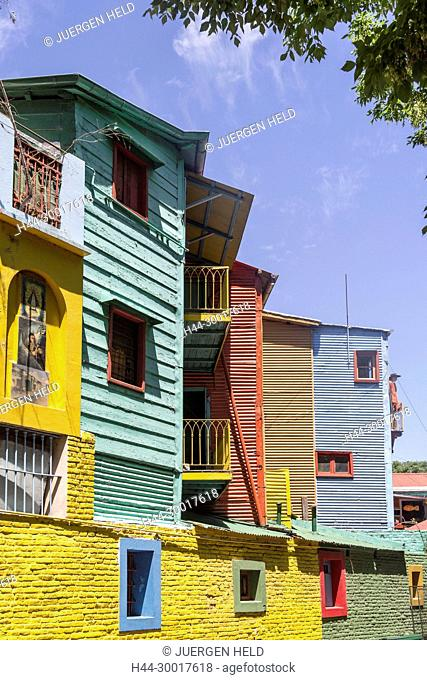 Argentina, Buenos Aires, Caminito, La Boca, colered houses