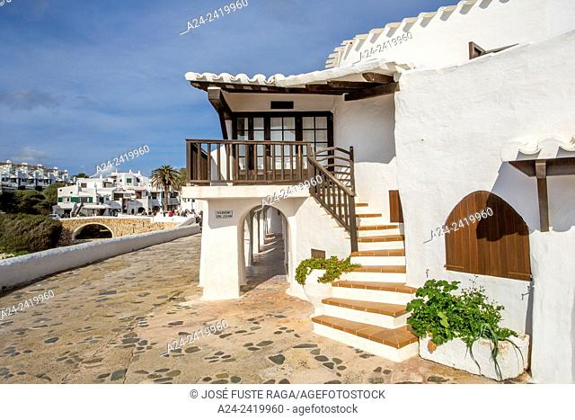 Spain, Balearic Islands, Menorca Island, Old Binibeca Fishing Village