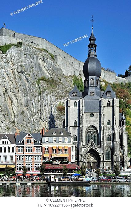 The citadel and the Collegiate Church of Notre-Dame along the river Meuse at Dinant, Belgium