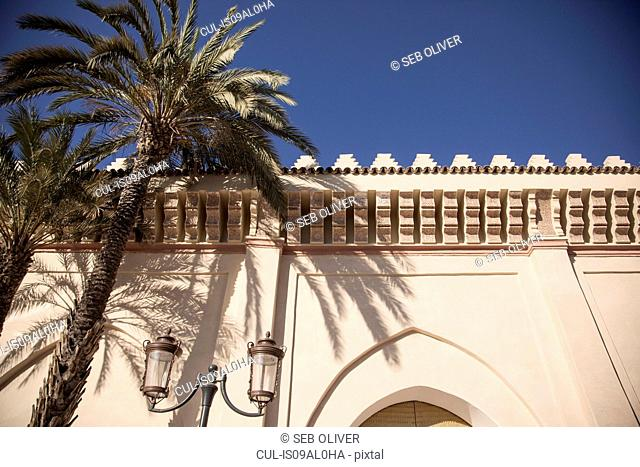 Low angle view of Moulay El Yazid Mosque, Marrakech, Morocco