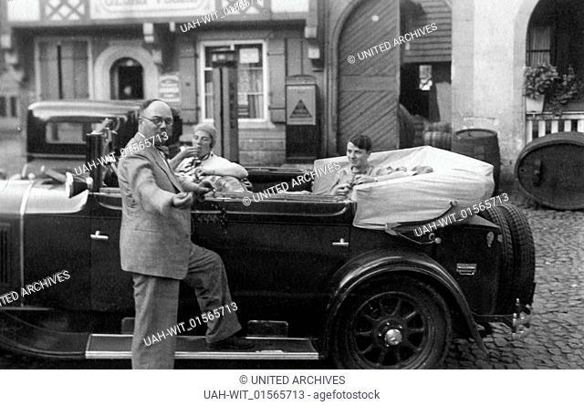 Ein Mann kommt bei den Damen gut an, wenn er ein Auto besitzt, 1930er Jahre