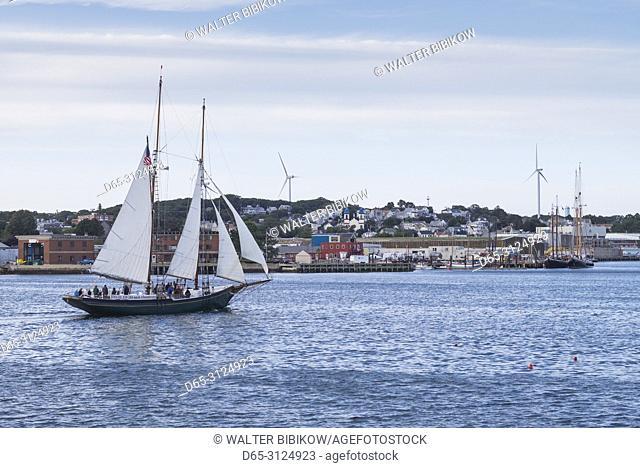 USA, New England, Cape Ann, Massachusetts, Gloucester, Gloucester Schooner Festival, schooner
