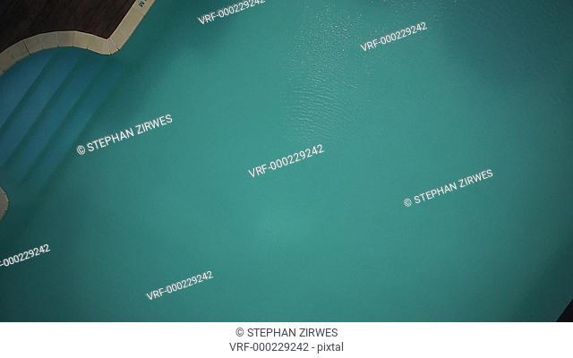 MS POV ZO View of swimming pool in Malaysia