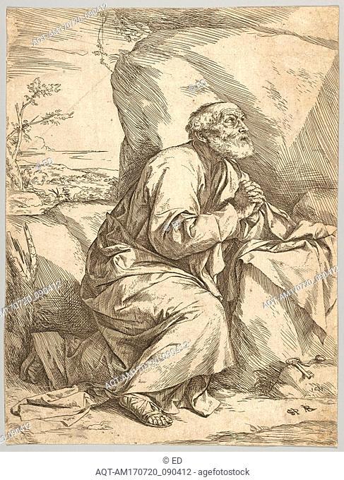 Drawings and Prints, Print, The Penitence of Saint Peter, Artist, Jusepe de Ribera (called Lo Spagnoletto), Spanish, Játiva 1591–1652 Naples, Ribera