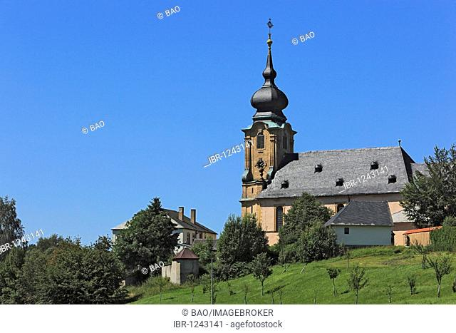 Marienweiher monastery, pilgrimage church, district of Kulmbach, Upper Franconia, Bavaria, Germany, Europe