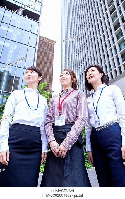 Business women standing at downtown area