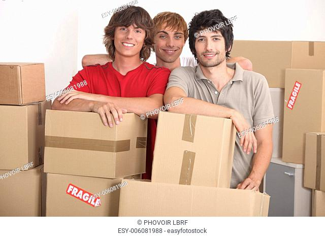 Men on moving day