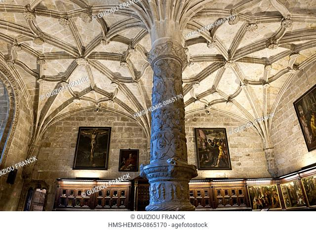 Portugal, Lisbon, Belem district, the Hieronymites Monastery (Mosteiro dos Jeronimos), listed as World Heritage by UNESCO