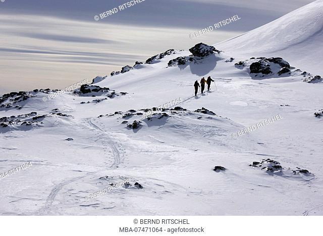 Ski tour to Rastkogel, Tuxer Alps, Zillertal, Tyrol, Austria