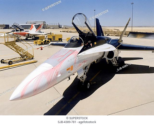 F-18 Used in Angle of Attack Research