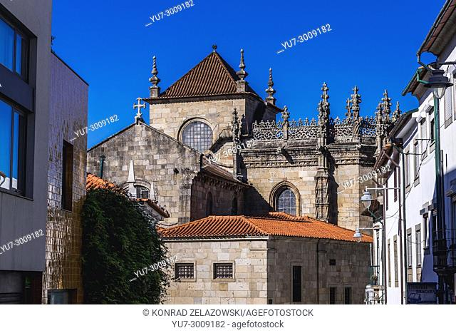 Side view of Cathedral in Braga, one of the oldest cities in Portugal, located in historical Minho Province, Portugal
