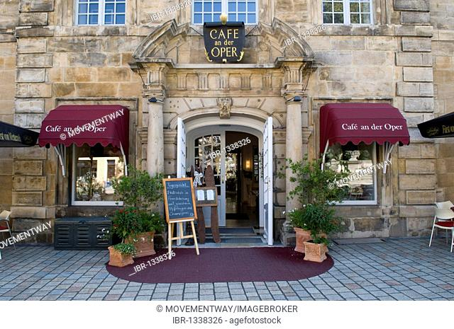 Cafe, Cafe an der Oper, Bayreuth, Franconian Switzerland, Franconia, Bavaria, Germany, Europe