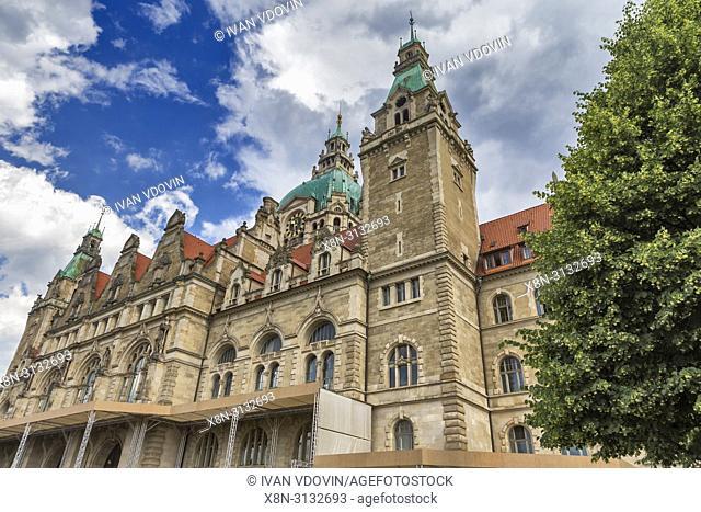 New City Hall, Neues Rathaus (1913), Hanover, Lower Saxony, Germany