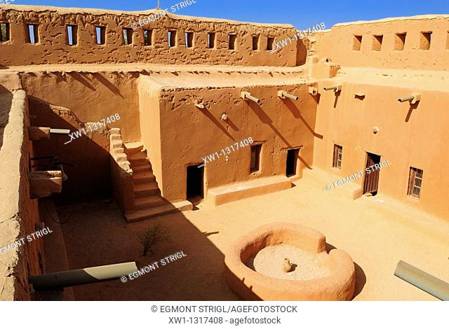 historic french adobe fort at Tamanrasset, Algeria, Sahara, Africa
