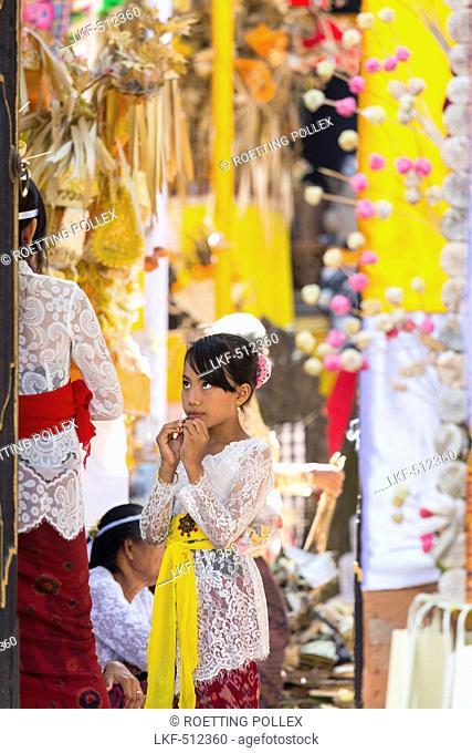 Balinese people, Odalan temple festival, Sidemen, Bali, Indonesia
