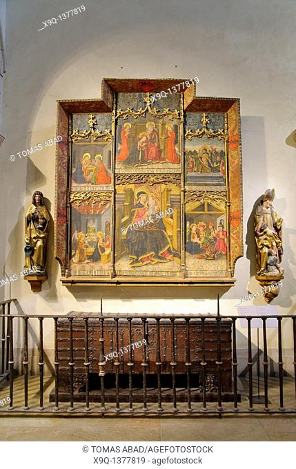 Altarpiece, Virgin and Child Enthroned with Scenes from the Life of the Virgin, Morata Master, Spanish, Aragonese, late 15th century