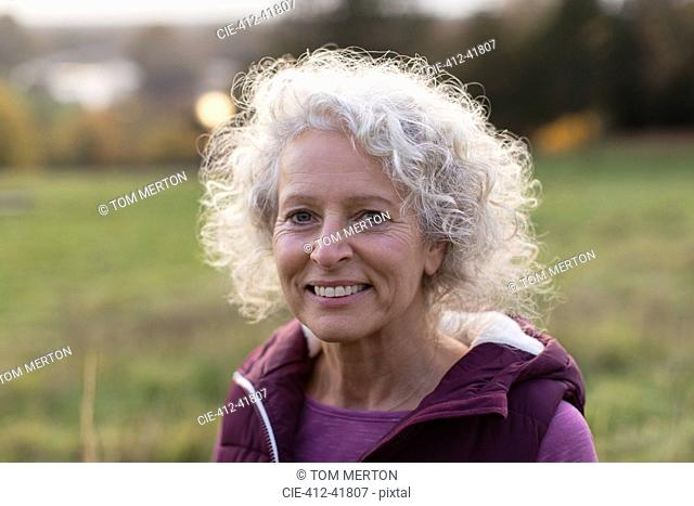 Portrait smiling, confident senior woman