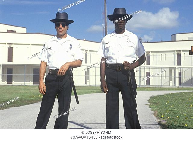 Prison guards at Dade County Men's Correctional Facility, Florida