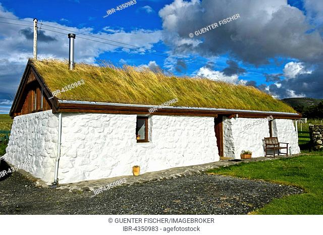 Crofter's cottage, Tawman Cottage, Kilmuir, Isle of Skye, Scotland, United Kingdom