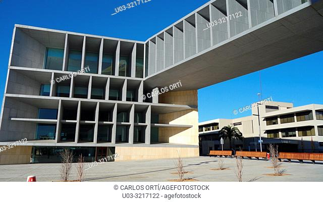 Palace of Congresses of Palma de Majorca, from the spanish architect Patxi Mangado. Balearic islands, Spain, Europe
