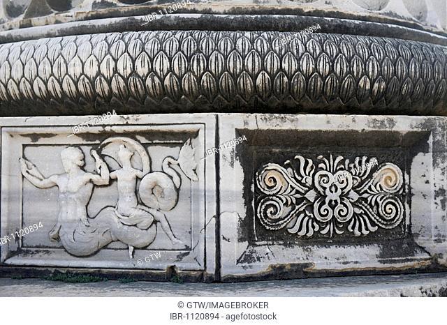 Apollo temple, decorative moulding of a column base, Didyma, Turkey