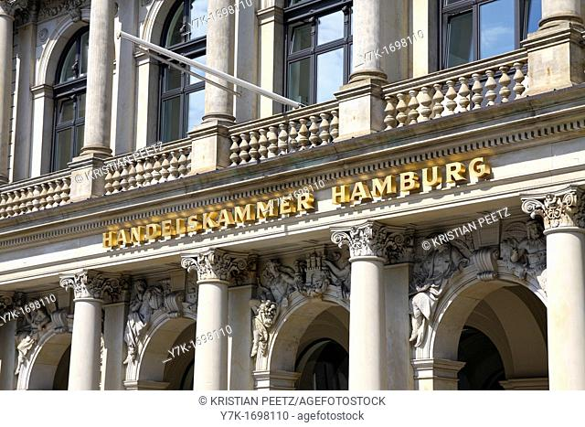 View of the Chamber of Commerce of Hamburg, Germany