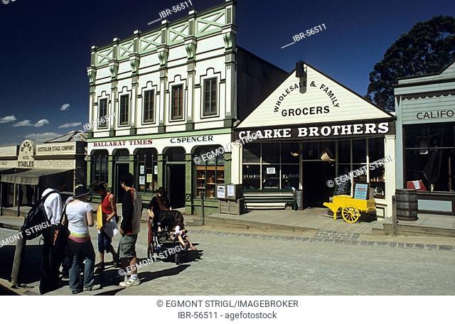 Mainstreet of Sovereign Hill, Ballarat, Victorian Goldfields, Victoria, AUS