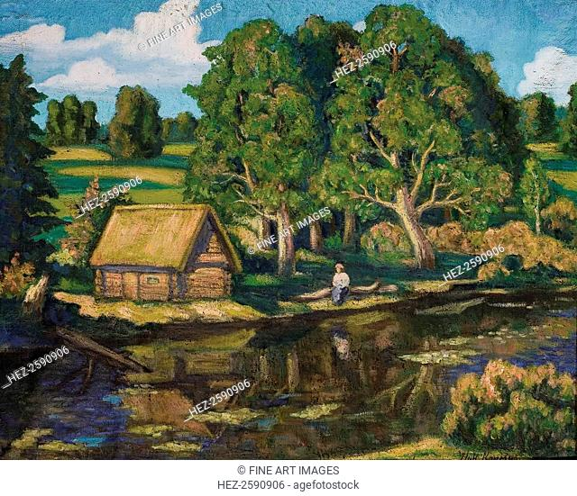 Wash House at River. From a private collection