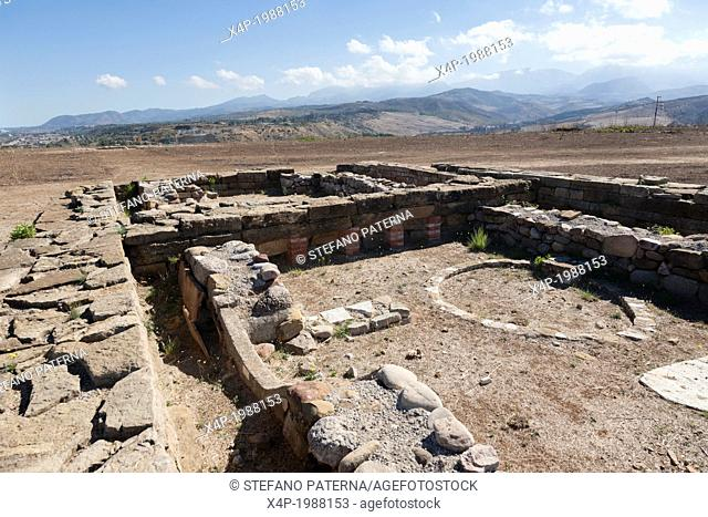 The Sanctuary of Athena, the excavated Temple Ruins of Himera, Himera, Sicily, Italy