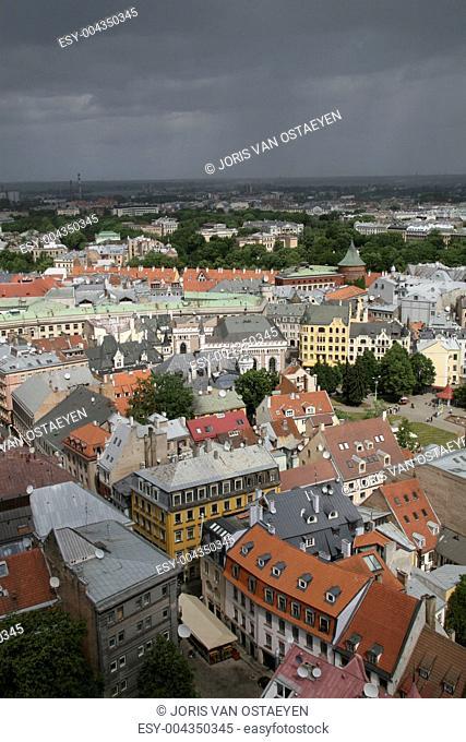 Panorama on Riga, Capital of Latvia