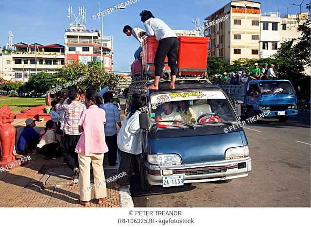 Traffic, Phnom Penh, Cambodia